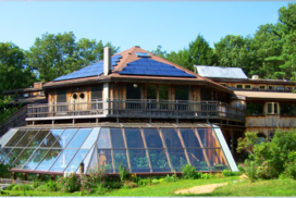 glass and solar panel structure at Sirius Community, for Family Constellation Retreat with Inner Arts Institute