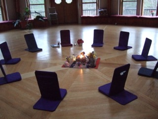 Family Constellations and Breathwork Retreat in Shutesbury, MA, October 20-22, 2017 - our opening circle from 2016.