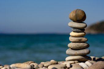 Balanced stones representing Family Constellation work
